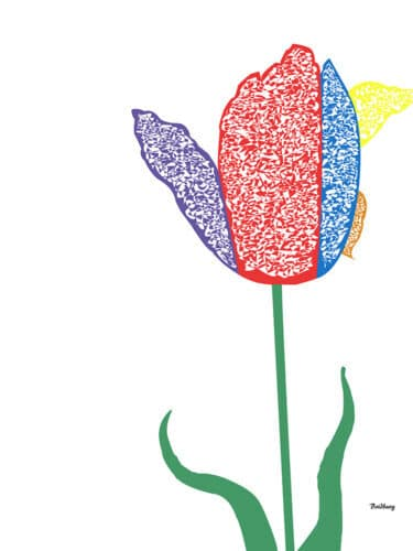 flowers paints, flower painting, abstract tulip